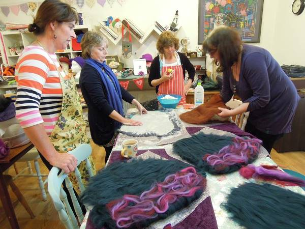 Felt making workshop at Arts Desire